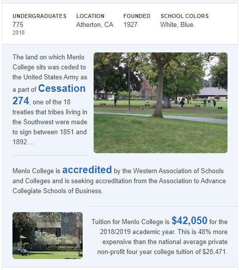 Menlo College History
