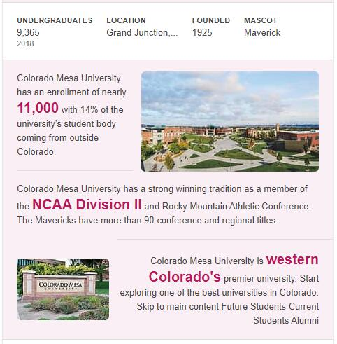 Mesa State College History