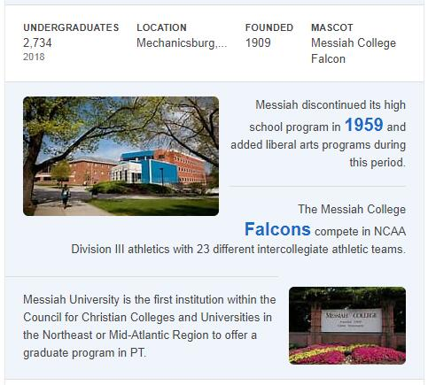 Messiah College History