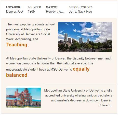Metropolitan State College of Denver History