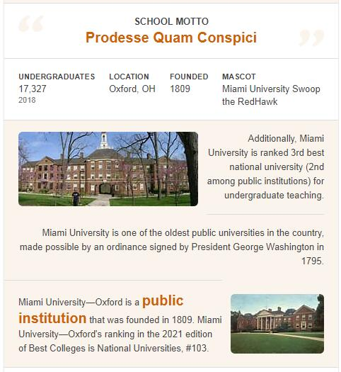 Miami University-Oxford History