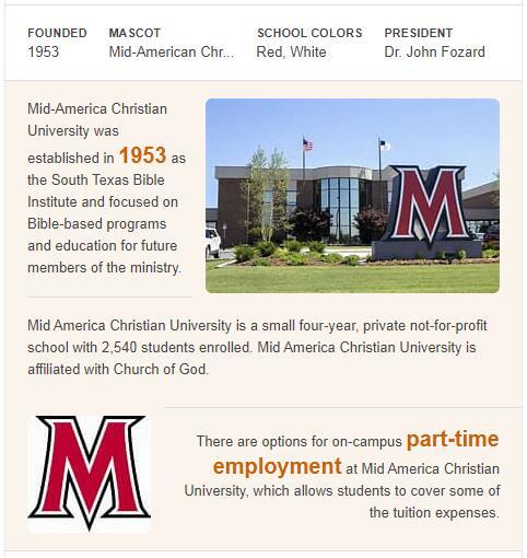 Mid-America Christian University History