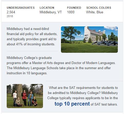 Middlebury College History