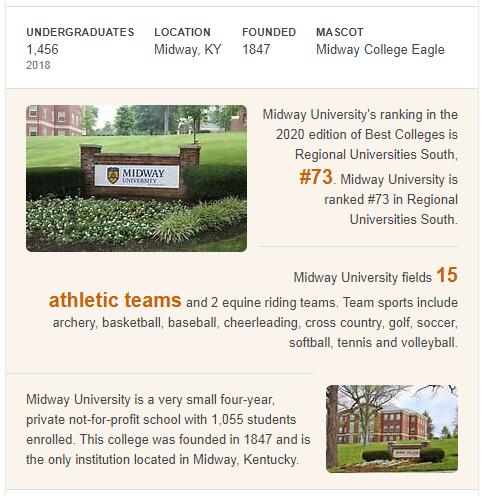 Midway College History