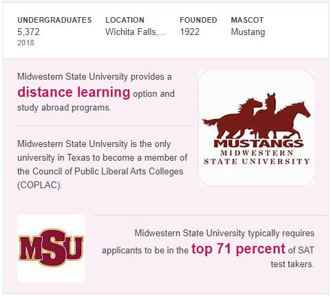 Midwestern State University History