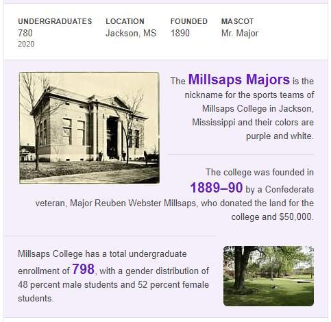 Millsaps College History