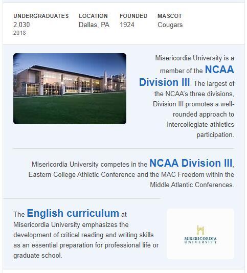 Misericordia University History