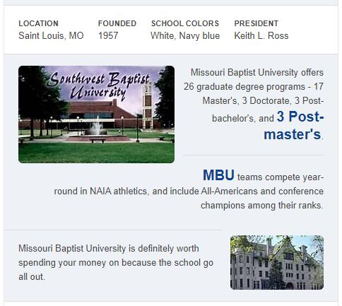 Missouri Baptist University History