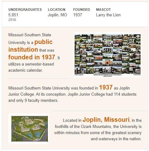 Missouri Southern State University History