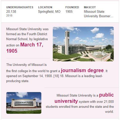 Missouri State University History