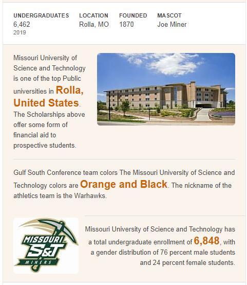 Missouri University of Science History