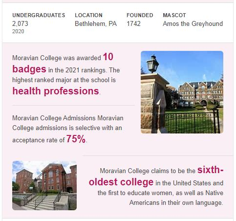 Moravian College History