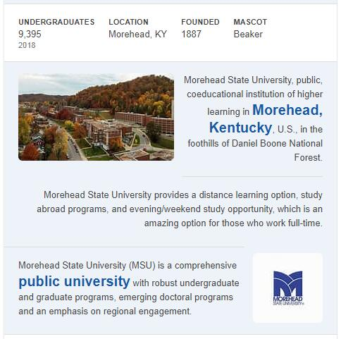 Morehead State University History