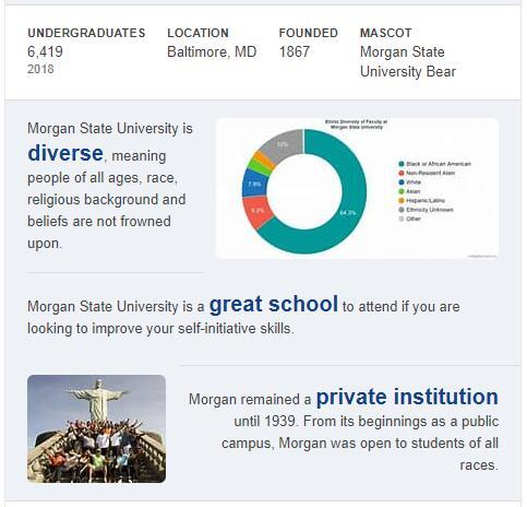 Morgan State University History