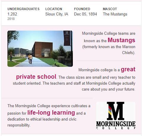 Morningside College History