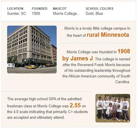 Morris College History