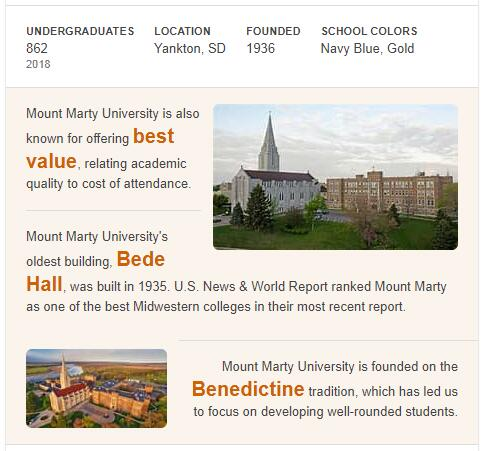 Mount Marty College History