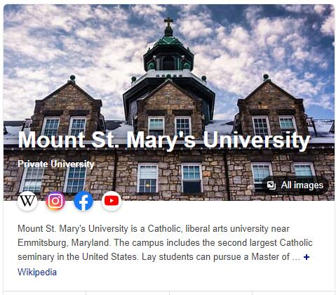 Mount St. Mary's College History