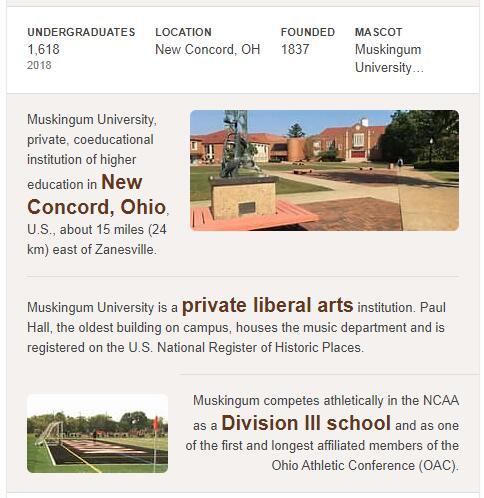 Muskingum University History