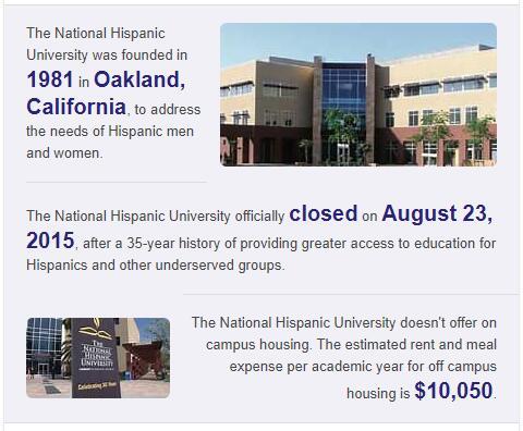 National Hispanic University History