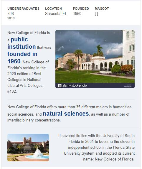 New College of Florida History