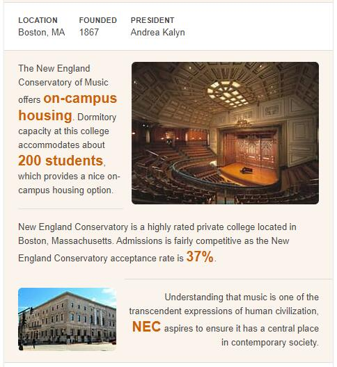 New England Conservatory of Music History