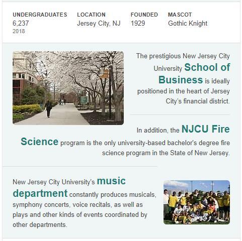 New Jersey City University History
