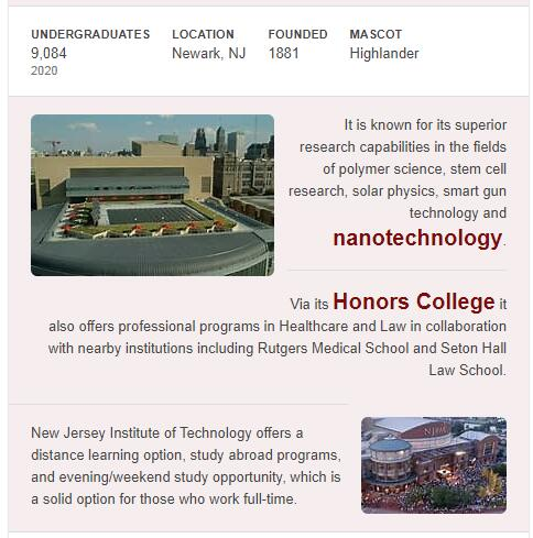 New Jersey Institute of Technology History