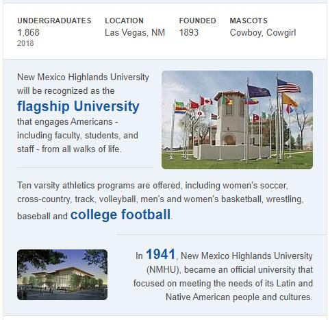 New Mexico Highlands University History