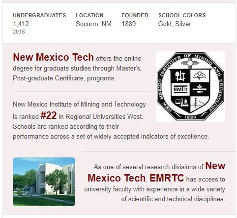 New Mexico Institute of Mining and Technology History