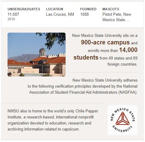 New Mexico State University History