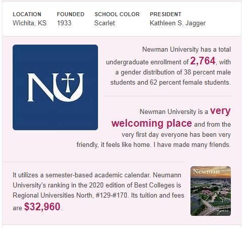 Newman University History