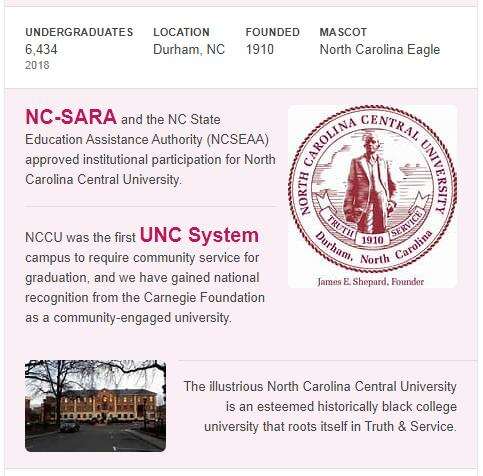 North Carolina Central University History