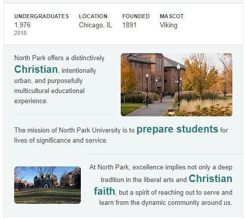 North Park University History