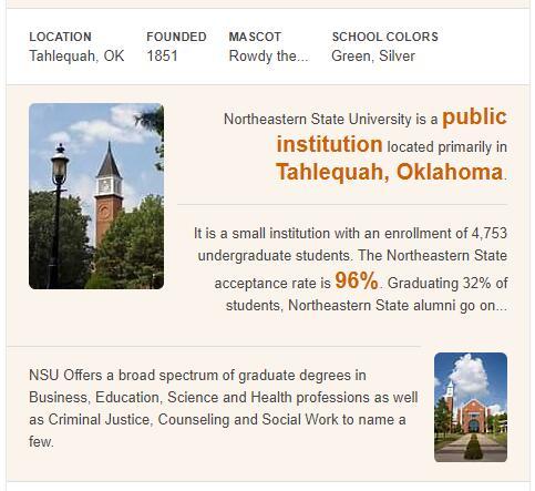 Northeastern State University History