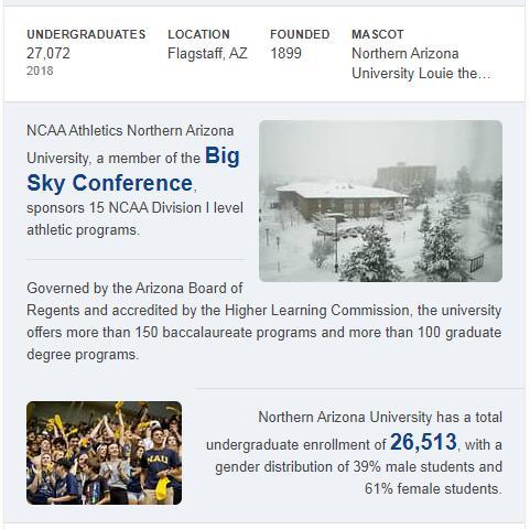 Northern Arizona University History