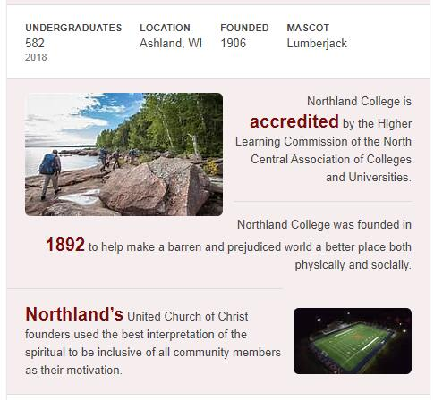 Northland College History