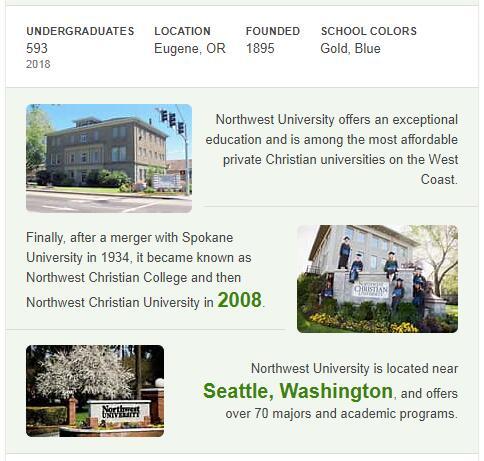 Northwest Christian University History