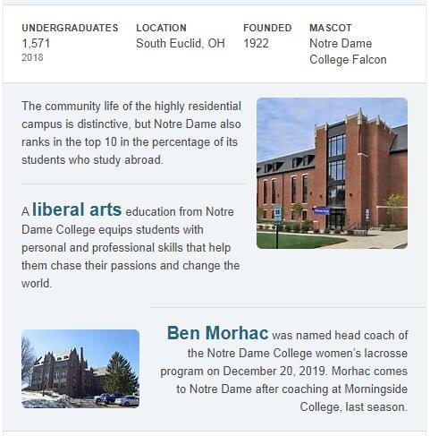 Notre Dame College of Ohio History