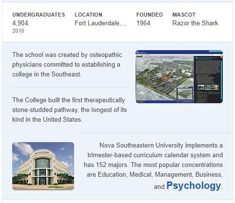 Nova Southeastern University History