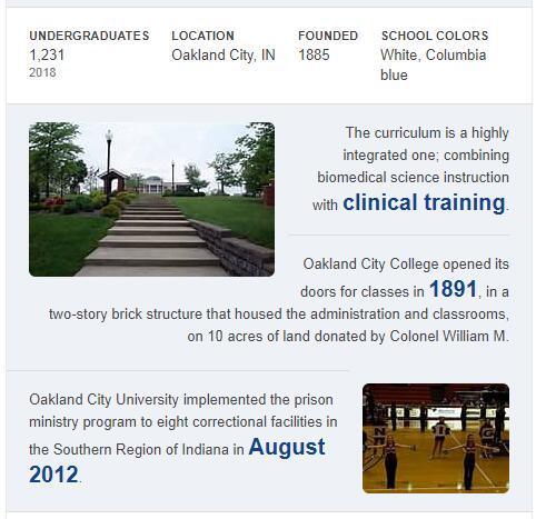 Oakland City University History