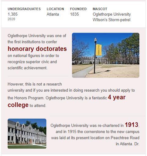 Oglethorpe University History