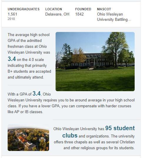 Ohio Wesleyan University History
