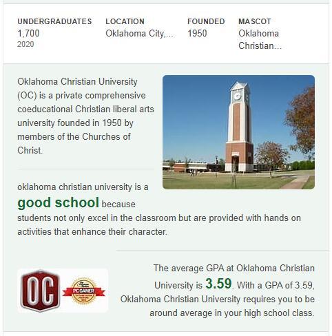 Oklahoma Christian University History