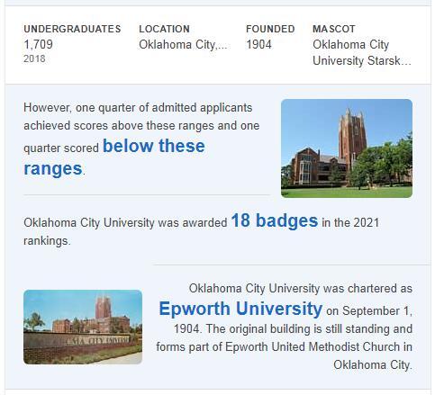 Oklahoma City University History