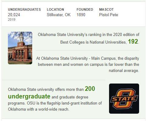 Oklahoma State University History