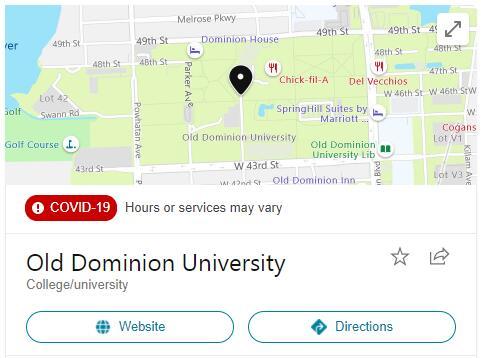 Old Dominion University History