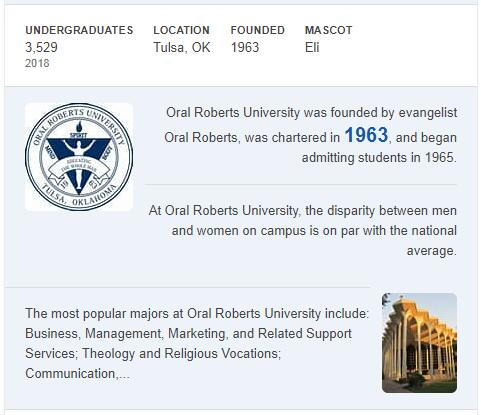 Oral Roberts University History