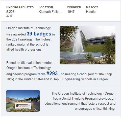Oregon Institute of Technology History