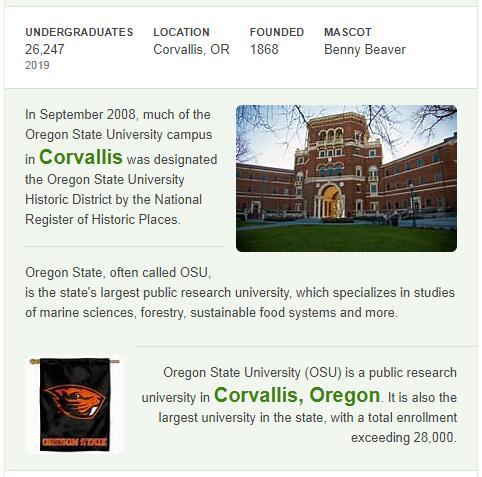 Oregon State University History